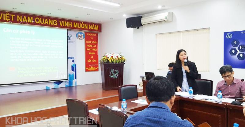 Bà Phan Quý Trúc giới thiệu về Dự án Trung tâm khởi nghiệp sáng tạo TPHCM