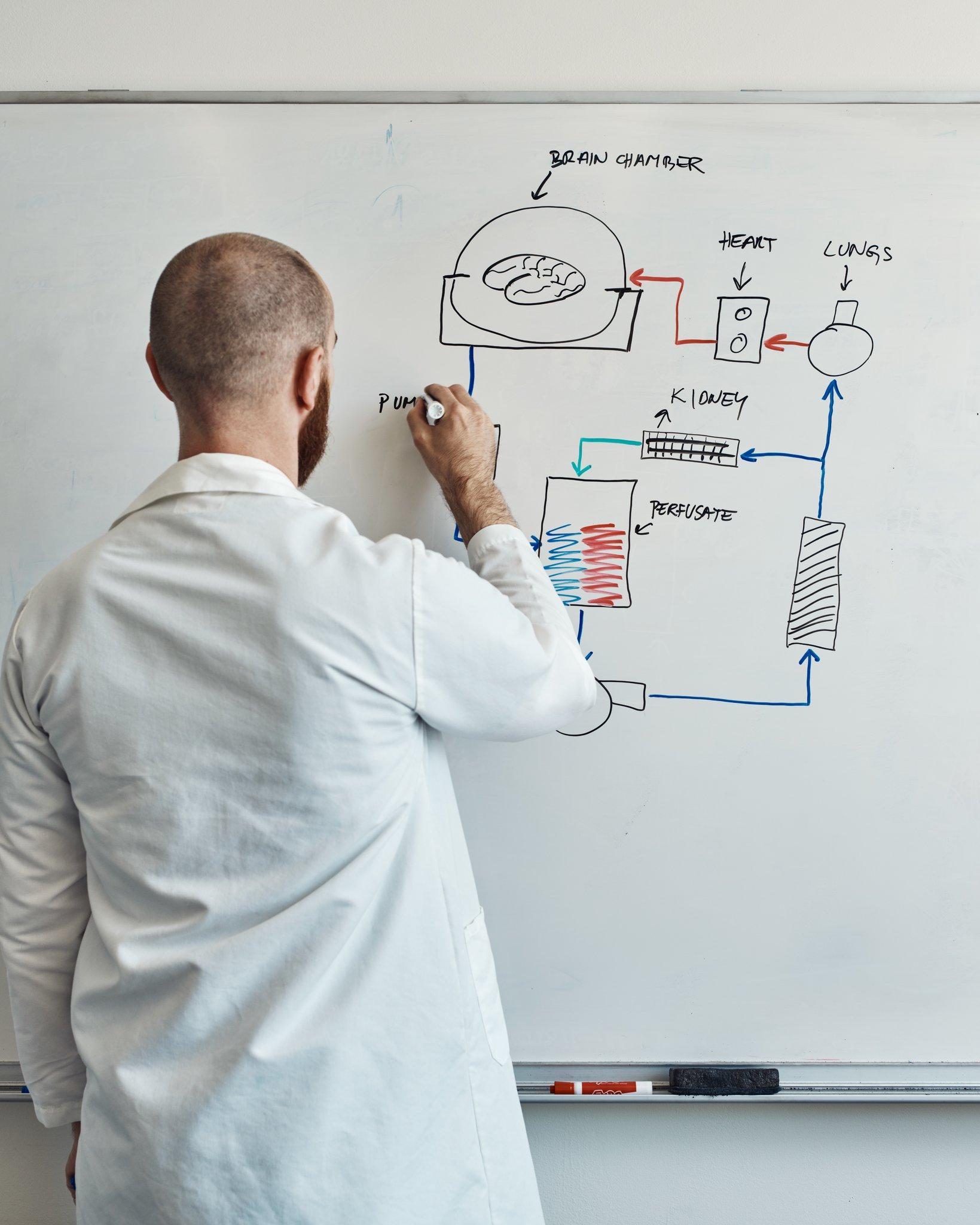 Vrselja phác thảo thiết kế cơ bản của hệ thống BrainEx. Ảnh: New York Times.
