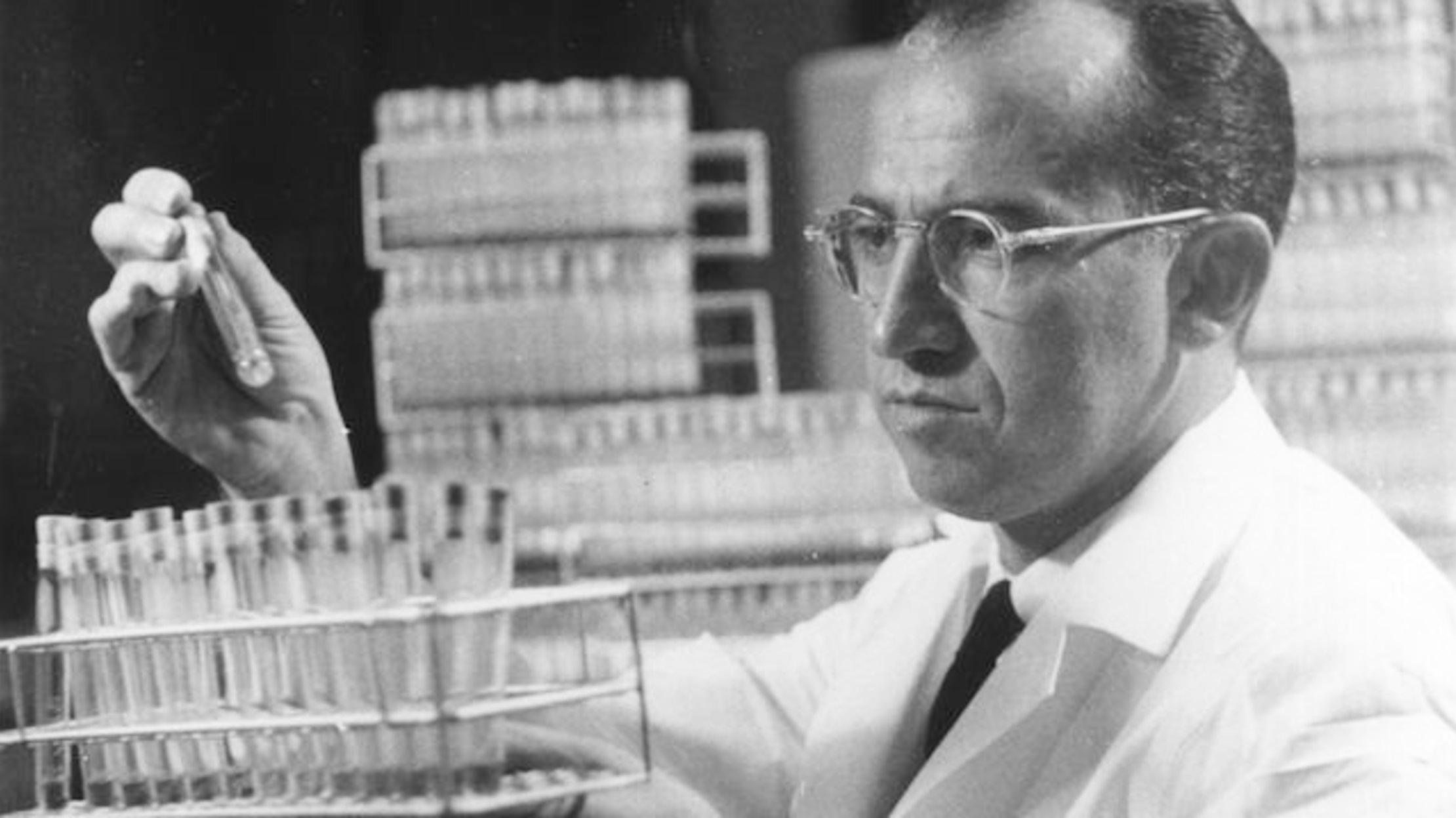 Nhà khoa học Jonas Salk. Ảnh: History.