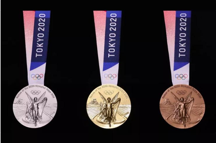 Huy chương Thế vận hội mùa hè Tokyo 2020 sẽ được làm bằng kim loại lấy từ hoạt động tái chế các thiết bị điện tử. Ảnh: IOC.