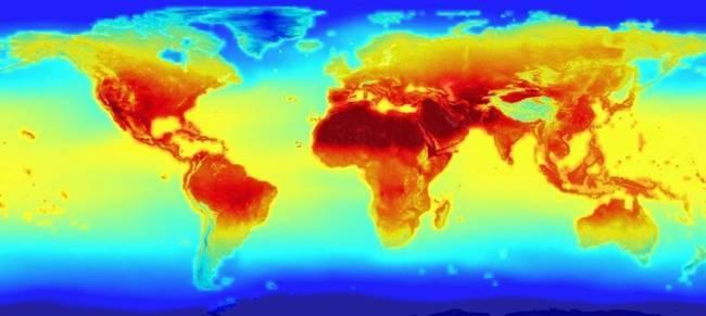 Mô hình khí hậu dự đoán đến năm 2020 - Ảnh: Internet