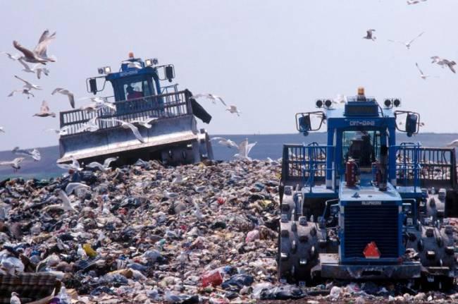 Một núi rác ở New York - Ảnh: Getty Images