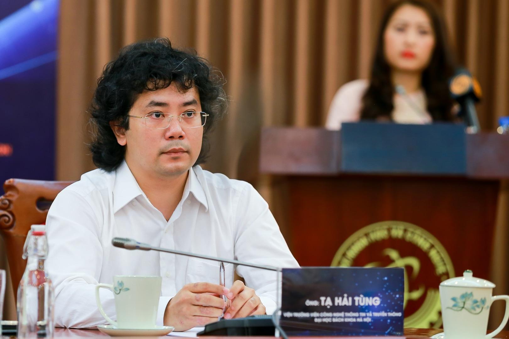 PGS.TS Tạ Hải Tùng tại lễ công bố sự kiện AI4VN, Bộ KH&CN, Hà Nội, 31/7/2019. Ảnh: techsignin.com