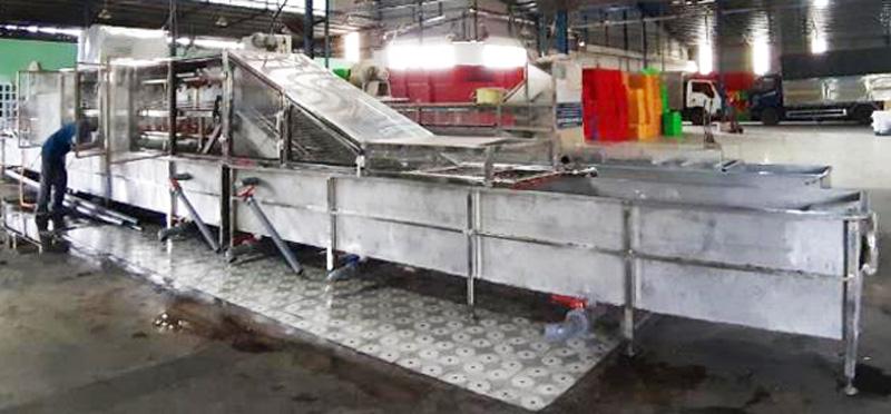 Máy rửa thanh long lắp đặt tại Công ty TNHH Hoàng Huy