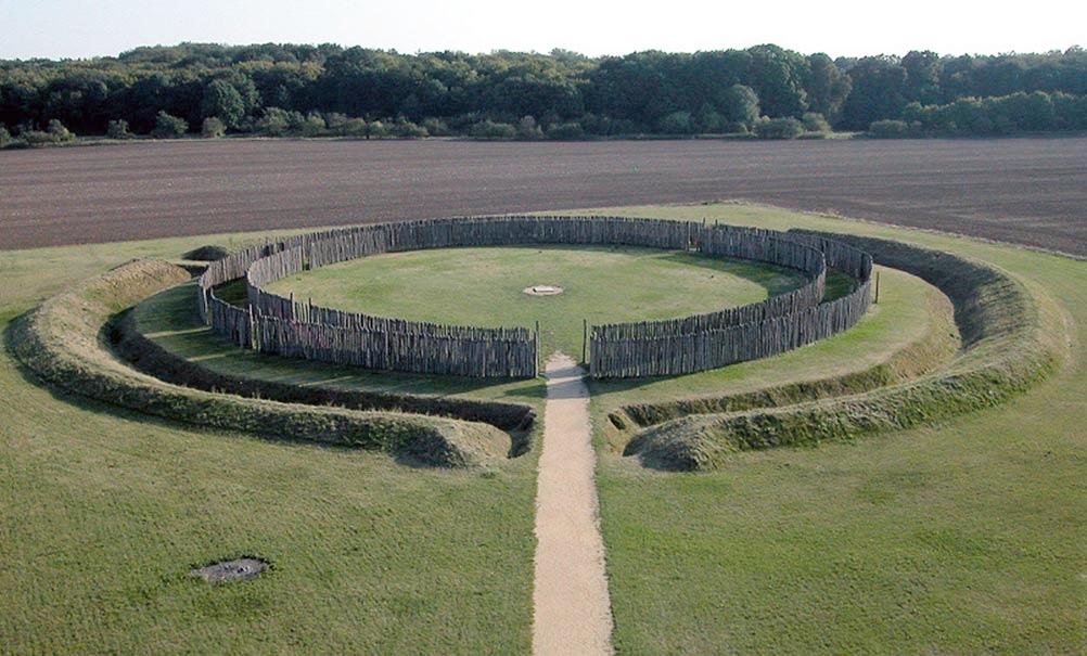 Vòng tròn Goseck sau khi được phục dựng. Ảnh: Wikimedia.