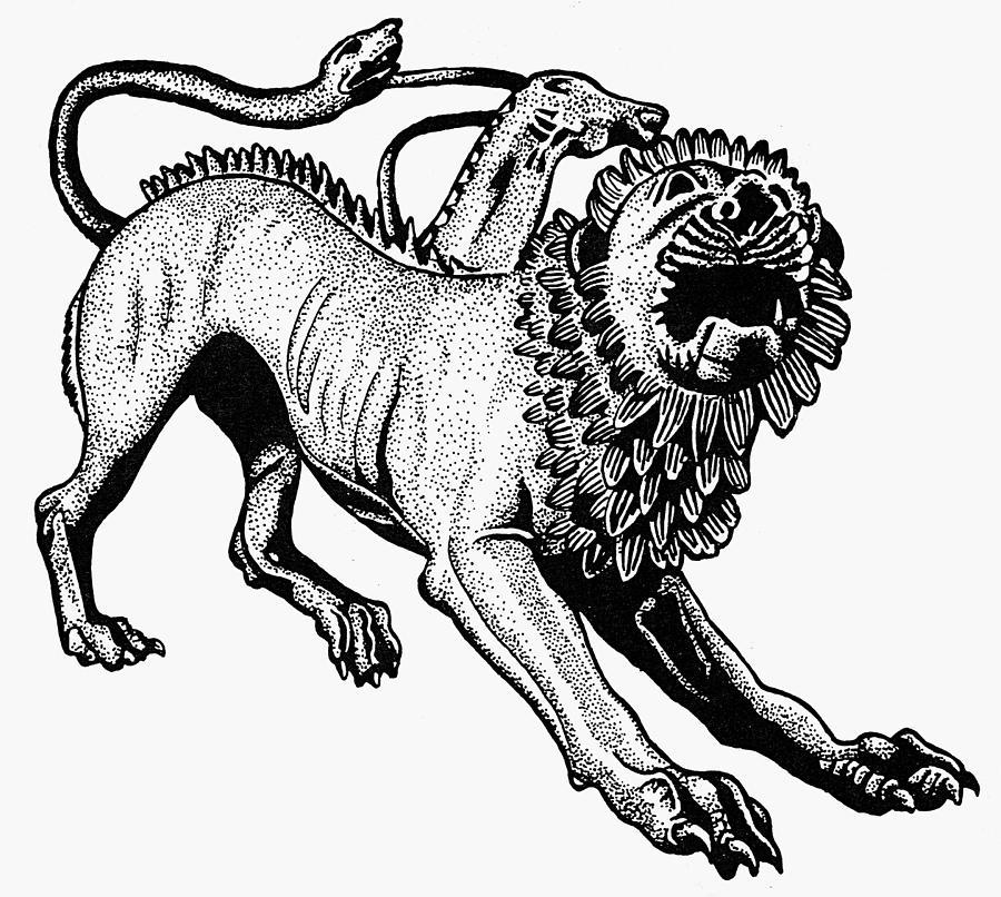 Minh họa tượng Chimera xứ Arezzo bằng đồng, đúc khoảng năm 400 TCN. Nguồn: Fine Art America.