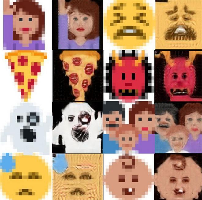 Trí tuệ nhân tạo đã học được cách biến những biểu tượng cảm xúc emoji thành những khuôn mặt kỳ dị đến phát sợ - Ảnh 2.