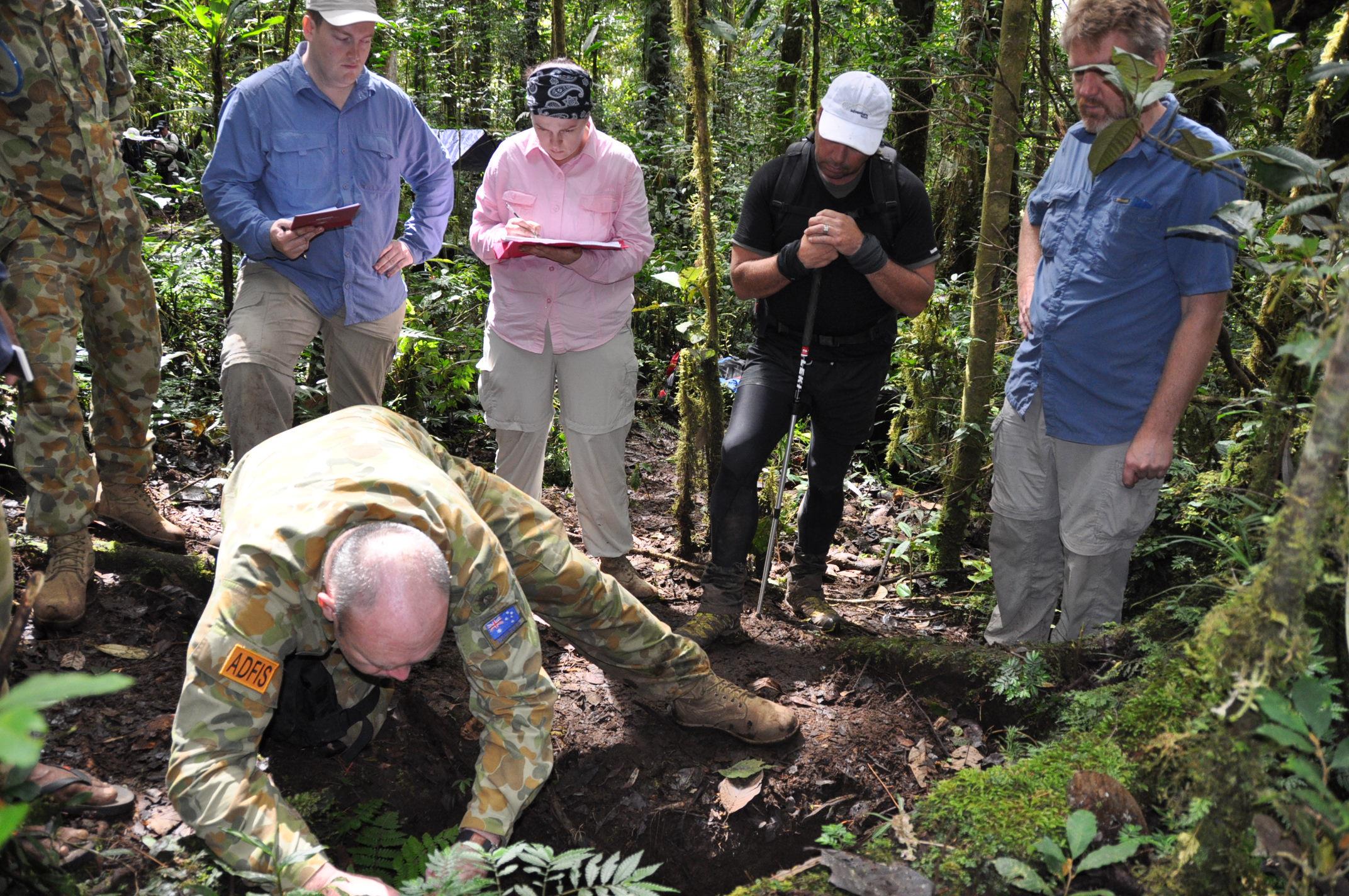 Quân đội Úc tìm kiếm hài cốt ở Papua New Guinea. Nguồn: Bộ Quốc phòng Úc