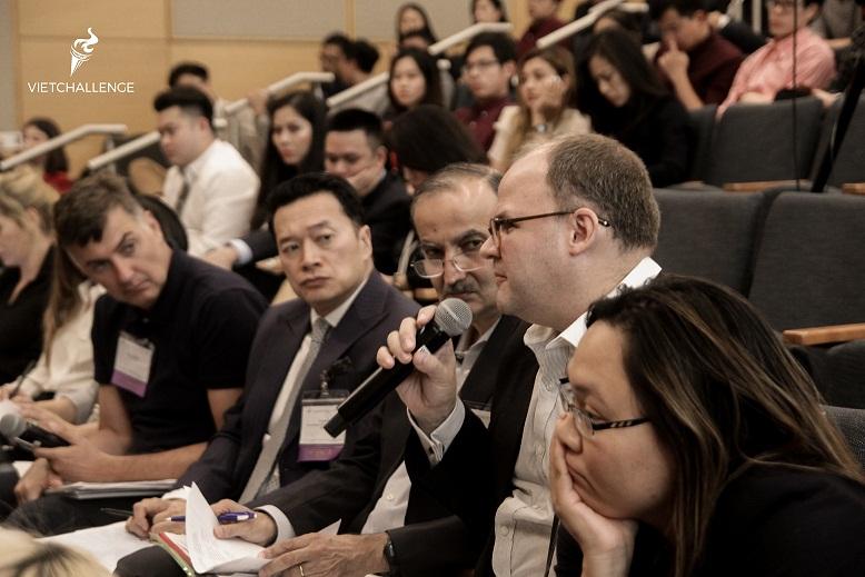 Các nhà đầu tư và chuyên gia Hoa Kỳ đánh giá cao startup Việt Nam tham dự cuộc thi | Ảnh: BTC