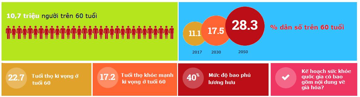 Số liệu tổng quát về già hóa ở Việt Nam