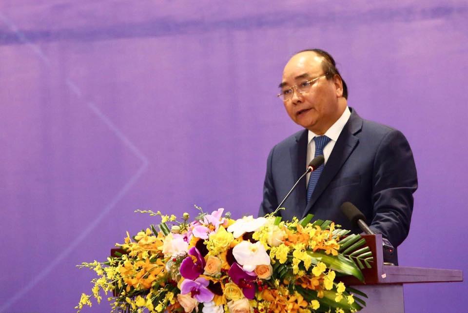 Thủ tướng Nguyễn Xuân Phúc phát biểu tại Diễn đàn VRDF 2019 | Ảnh: BTC