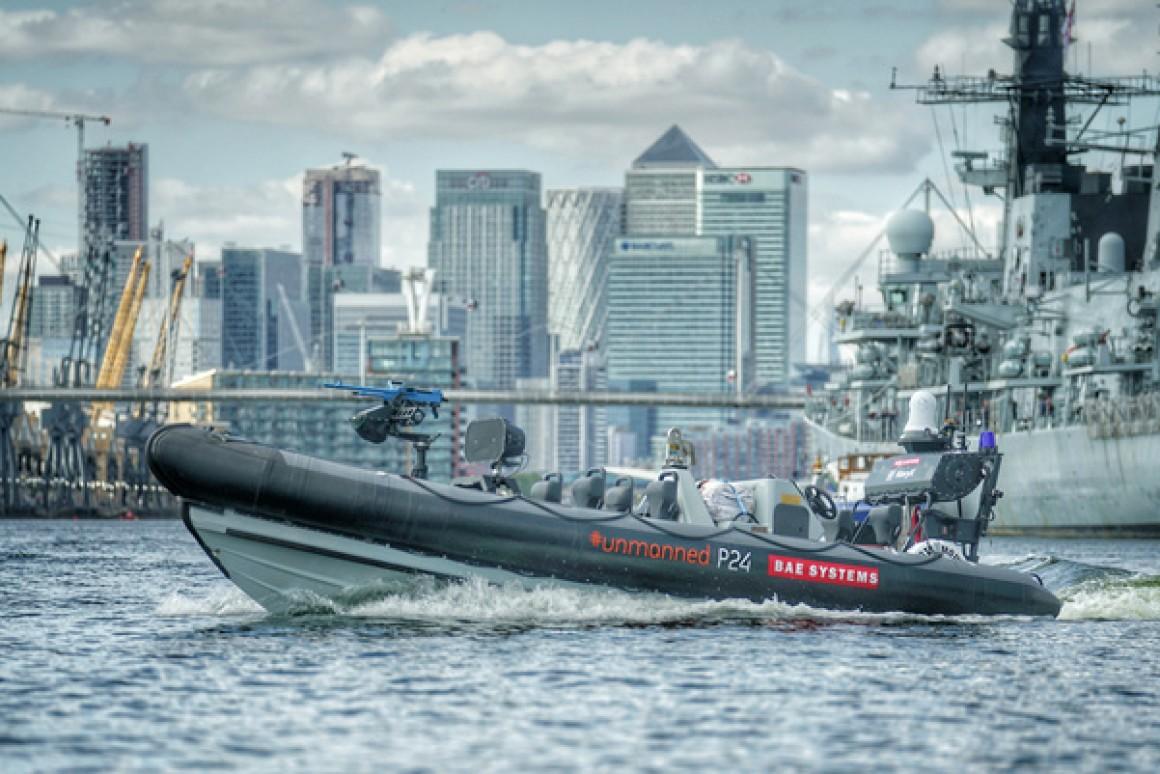 Xuống P24 RIB không người lái sẽ được tích hợp cùng các chiến hạm của Hải quân Hoàng gia Anh. Ảnh: BAE Systems.