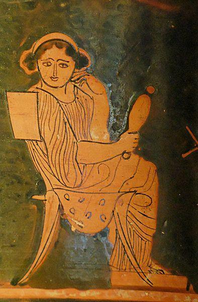 Một thiếu nữ người La Mã đang soi gương. Ảnh: Wikimedia.