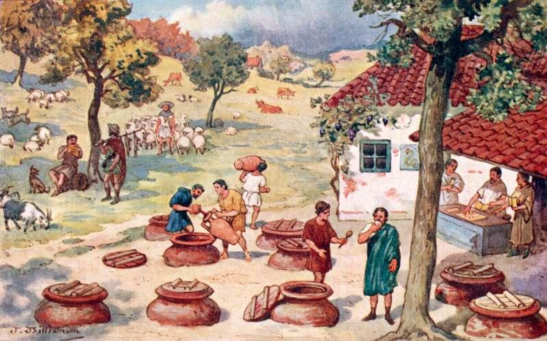 Nghề làm rượu vang đã xuất hiện ở châu Âu cách đây hàng nghìn năm. Ảnh: Alamy.
