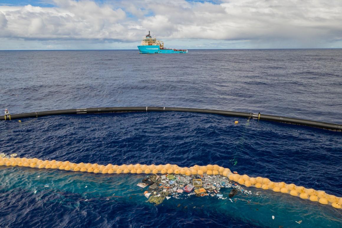 Khu vực đảo rác Thái Bình Dương, nơi ngập tràn rác thải nhựa trôi nổi. Ảnh: Ocean Cleanup.