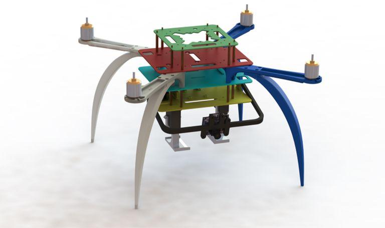 Chiếc drone có thiết kế 4 cánh, nhỏ gọn, dễ dàng được cất trong cốp xe. Ảnh: Ford.