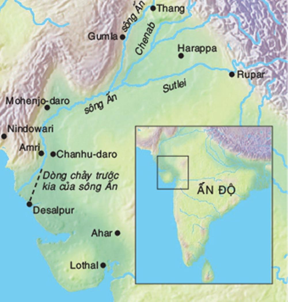 Các di chỉ của nền văn minh lưu vực sông Ấn. Ảnh: Wikimedia.