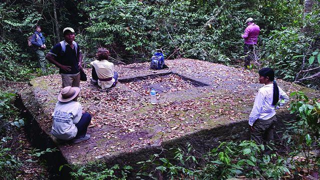 Khu vực di tích mới được phát hiện ở Phnom Kulen.