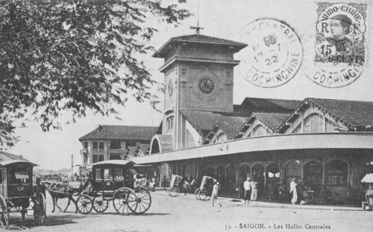 Chợ Bến Thành, Sài Gòn thời thuộc địa.