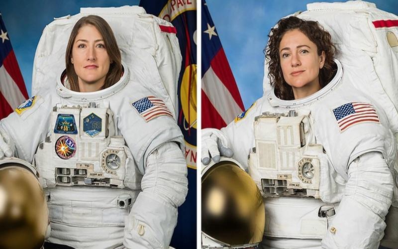 Hai nữ phi hành gia Christina Koch (trái) và Jessica Meir (phải). Ảnh: NASA.