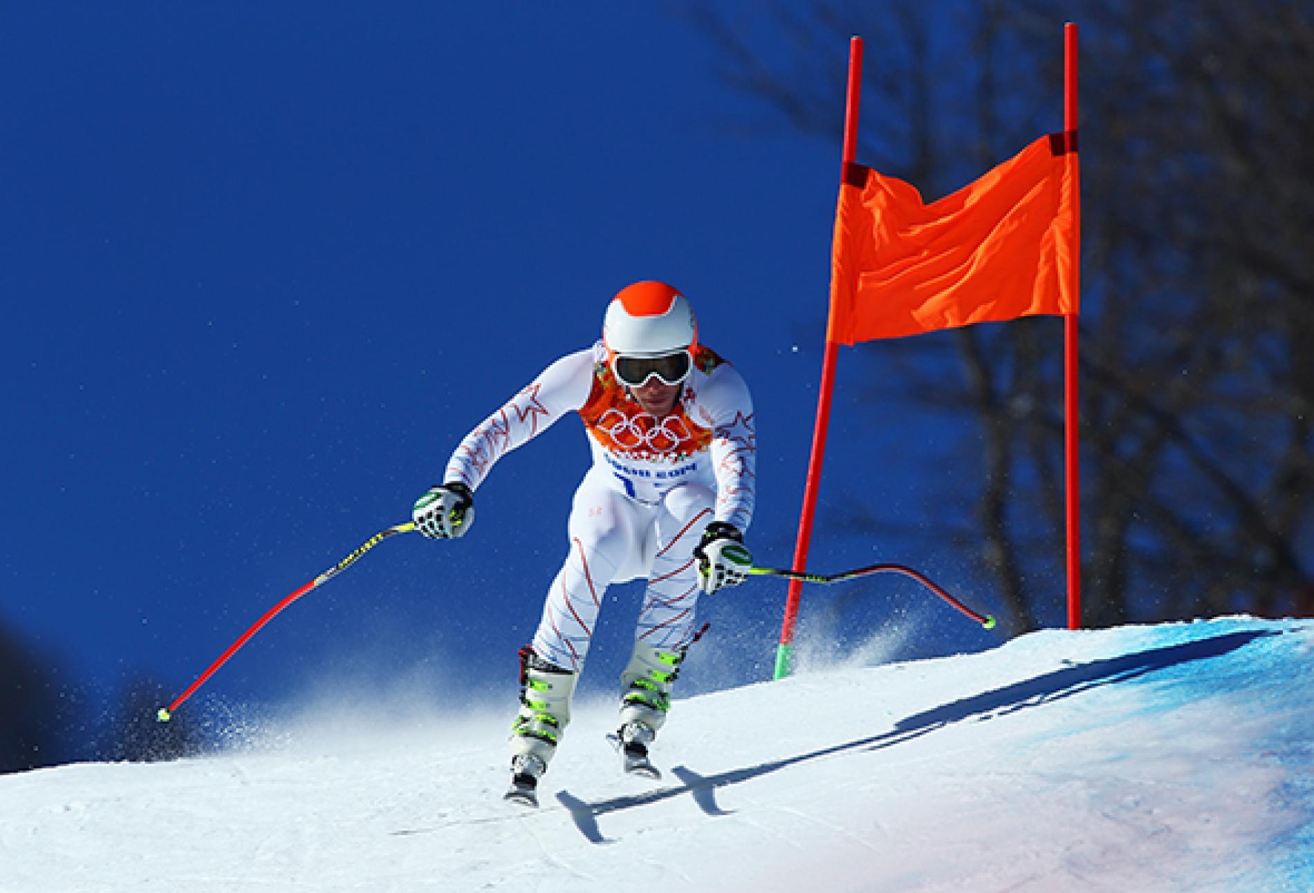 Vận động viên trượt truyết tranh tài tại Thế vận hội mùa đông Sochi 2014 ở Nga. Ảnh: National Geographic.