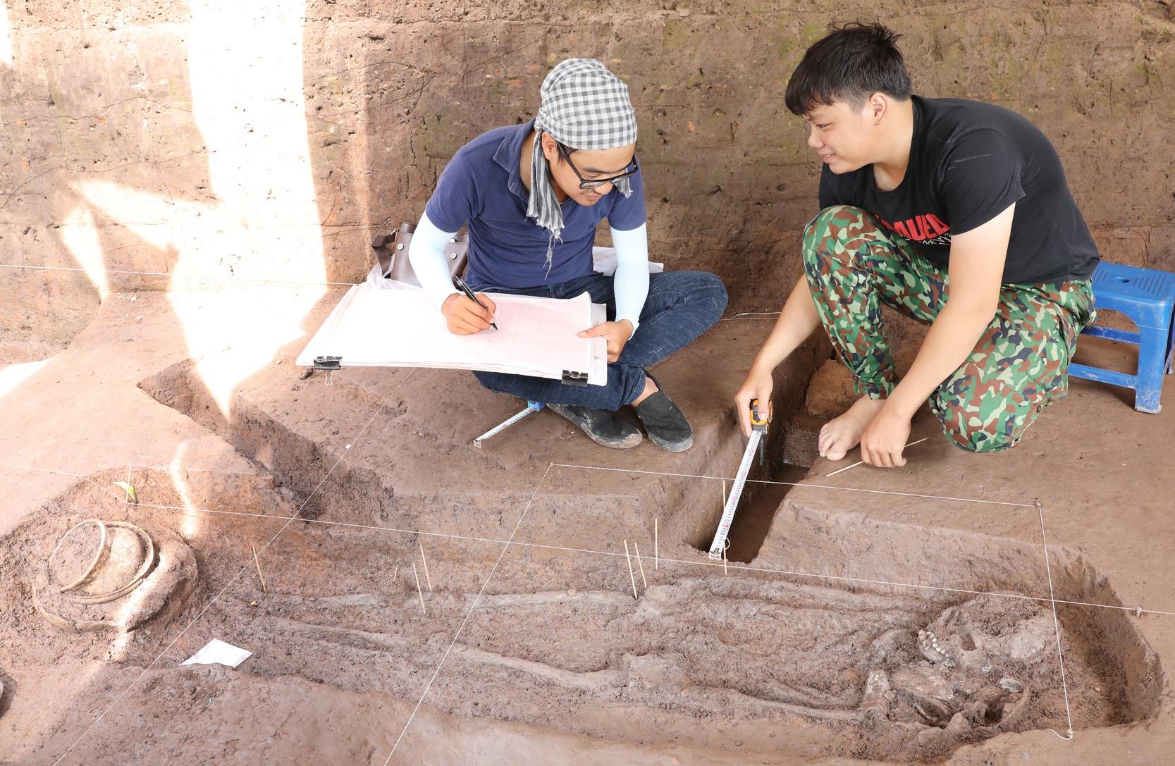 Từ tháng 4/2019, cụm di chỉ Vườn Chuối được tiến hành đào khẩn cấp để lên phương án bảo tồn. Ảnh: Nguyễn Văn Thắng.