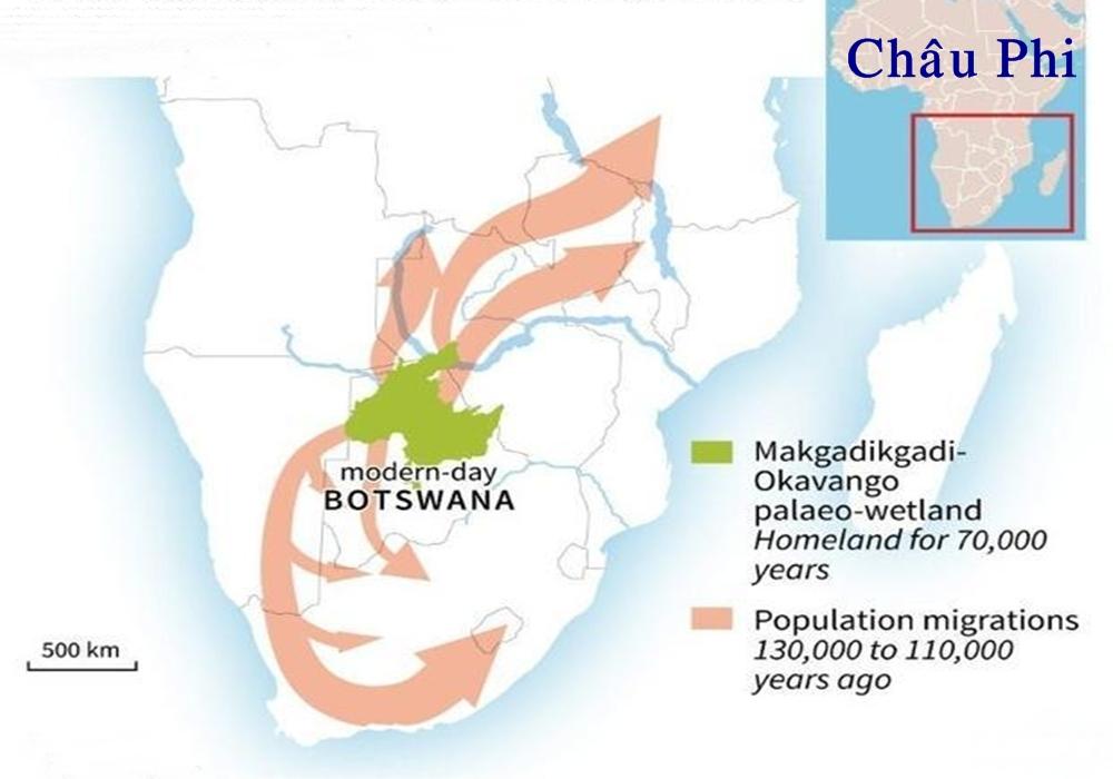 Người hiện đại xuất hiện 200 nghìn năm trước tại Botswana. Ảnh: Nature.