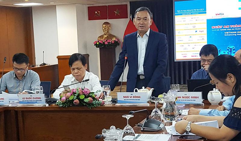 """Ông Ngô Vi Đồng giới thiệu về """"Ngày ATTT Việt Nam 2019""""     Ảnh: KA"""