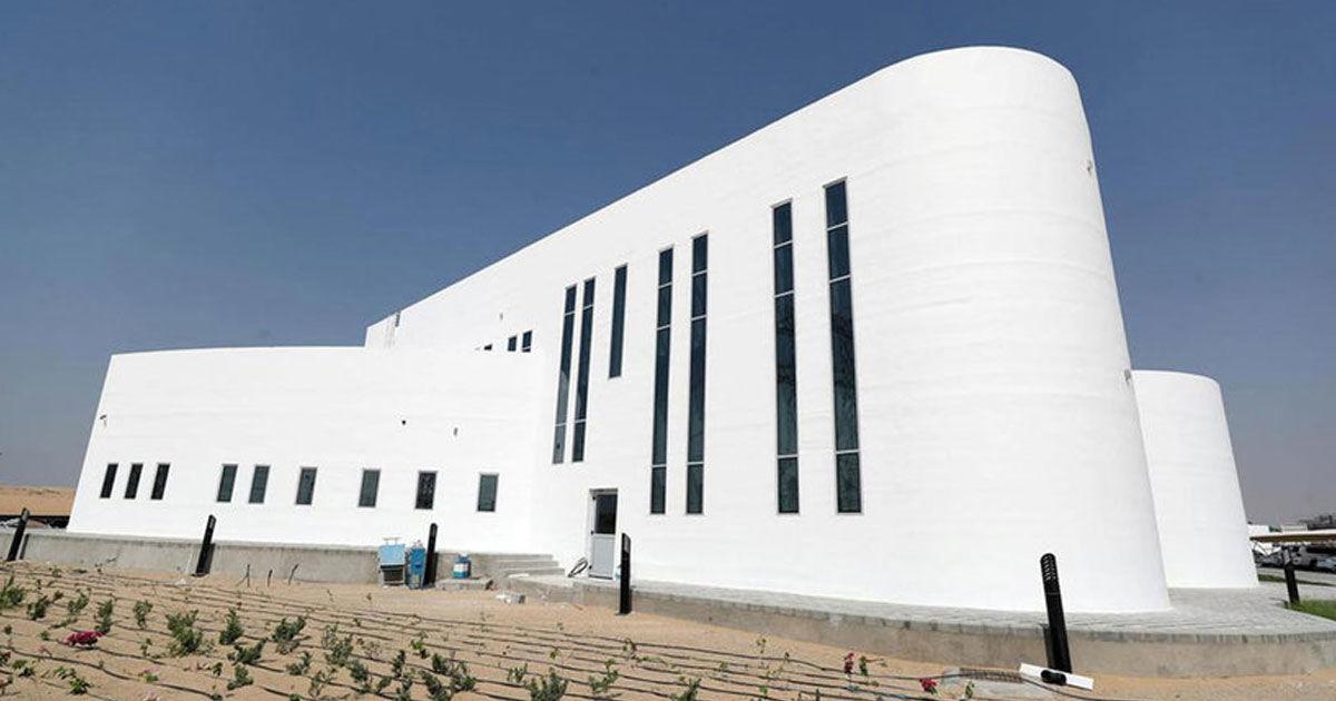 Tòa nhà in 3D lớn nhất thế giới. Ảnh: Chris Whiteoak.