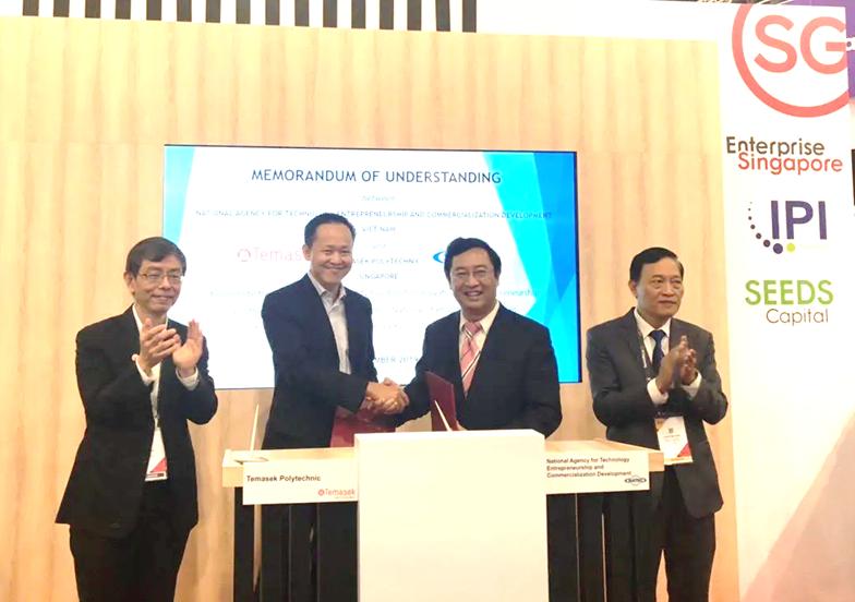 Lễ ký biên bản ghi nhớ giữa NATEC (Bộ KH&CN Vietnam) với trường cao đẳng Temasek Polytechnic