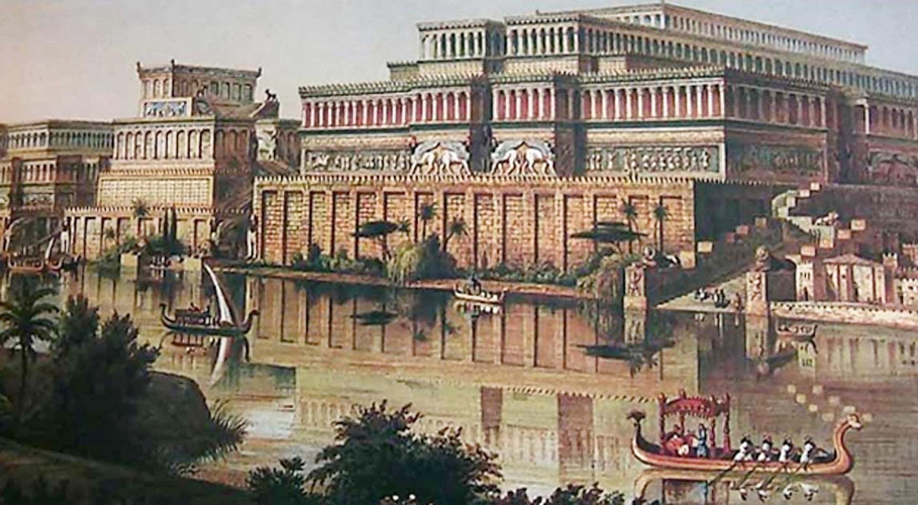 Cung điện của vua Ashurbanipal thời cổ đại. Ảnh: Ancient Origins.