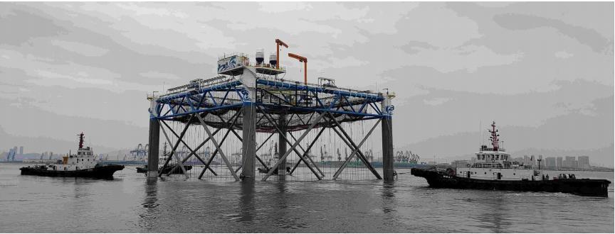 Long Whale 1 được ra mắt tại Yên Đài, tỉnh Sơn Đông. Ảnh: CIMC Blue.