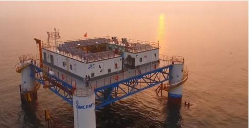 Giàn khoan của Trung Quốc trên biển Hoàng Hải. Ảnh: Internet.