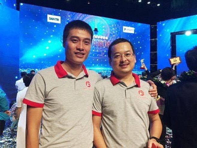 Anh Mã Hoàng Hải và Tạ Quang Thái-hai đồng sáng lập dự án Rada .