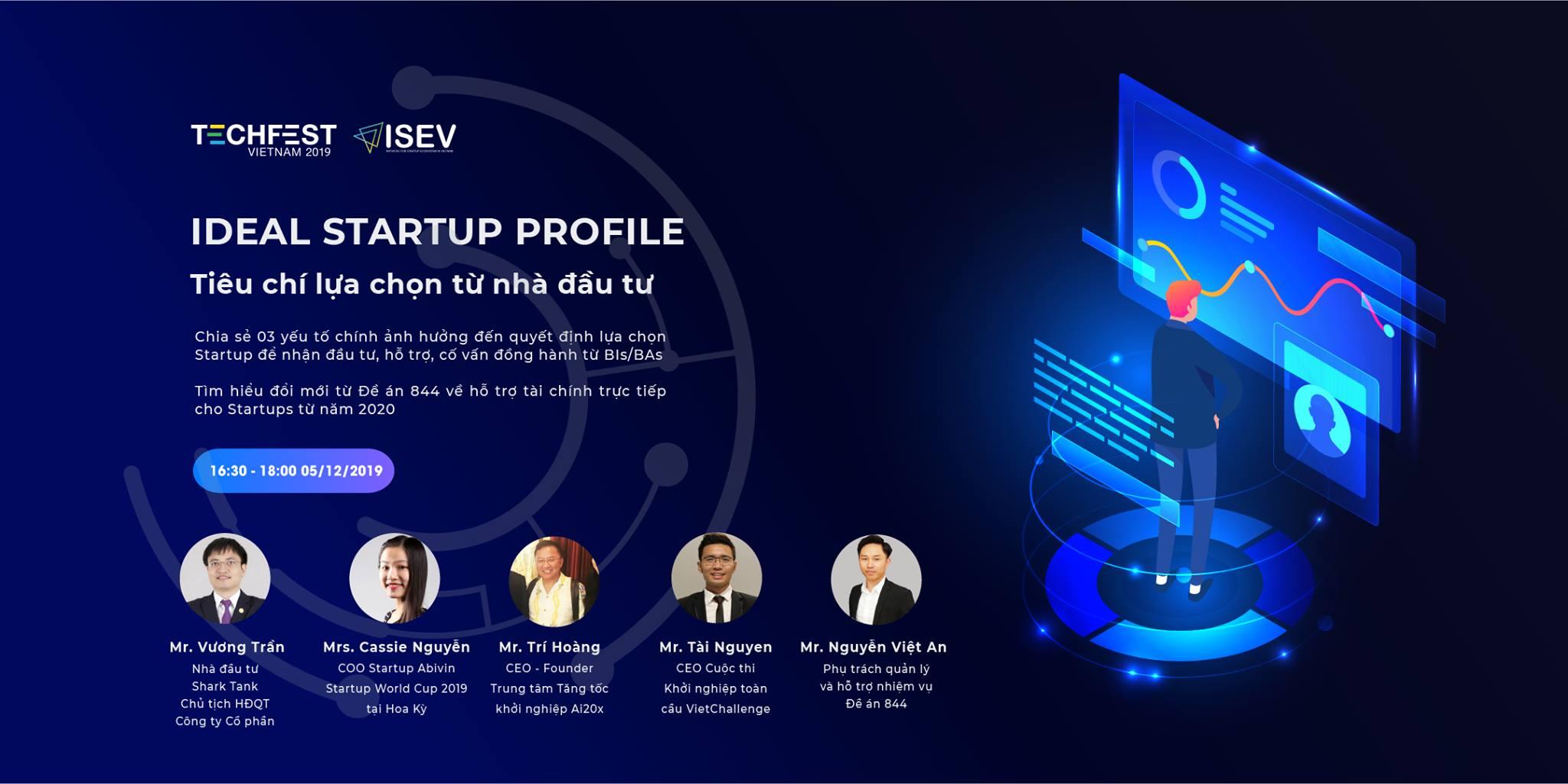 Hội thảo Tiêu chí lựa chọn từ nhà đầu tư tại Techfest 2019