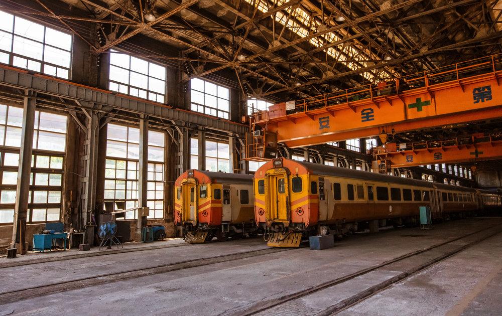 Chính quyền thành phố Đài Bắc (Đài Loan) đang tìm cách cải tạo và chuyển đổi mục đích sử dụng của khu vực xưởng đầu máy xe lửa cũ, có từ thời cai trị của Đế quốc Nhật Bản. Ảnh: Shutterstock.