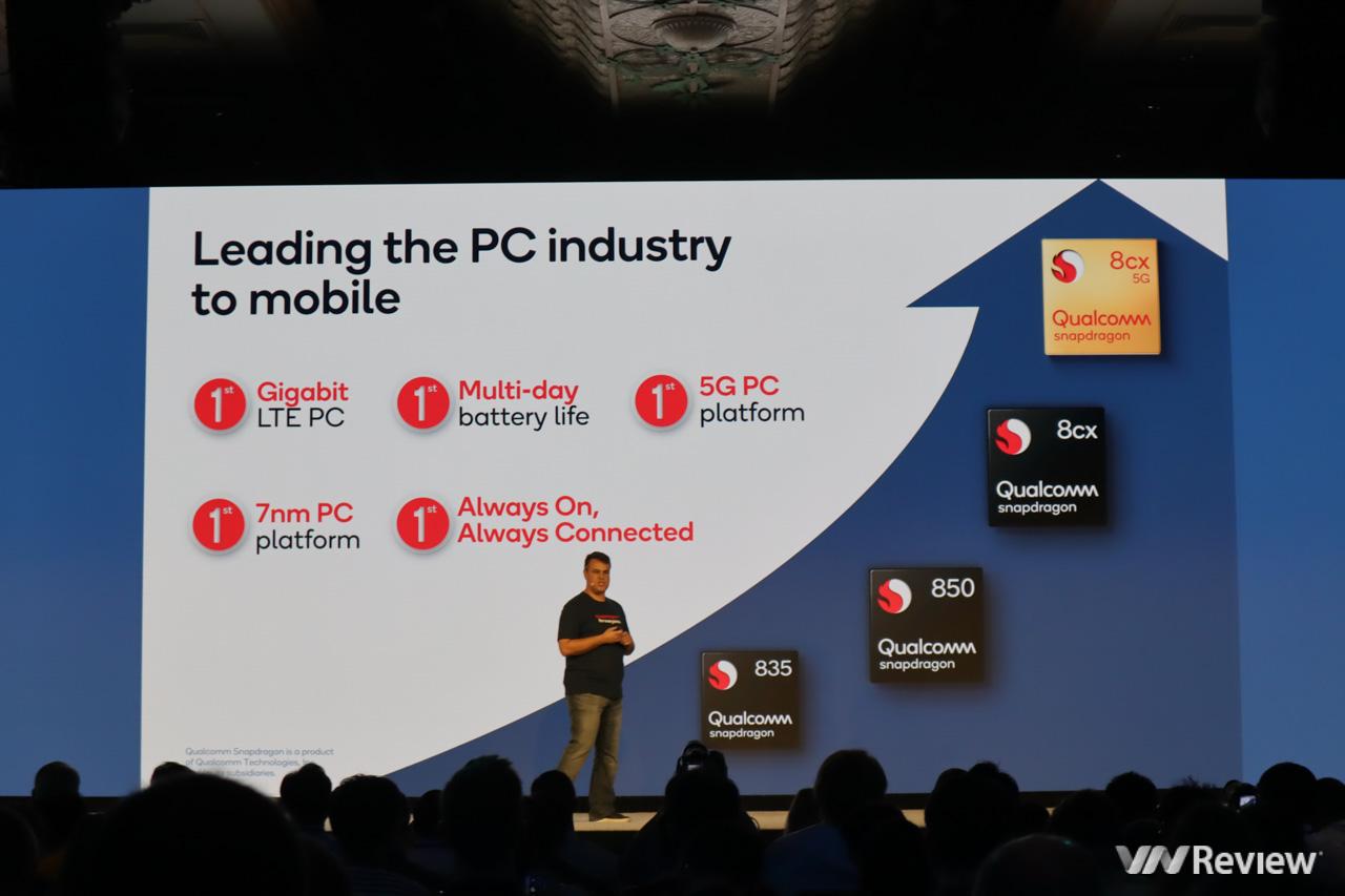 Qualcomm tung loạt chip Snapdragon cho laptop từ giá rẻ cho tới cao cấp: tiết kiệm điện hơn 50 lần so với chip PC truyền thống, pin có thể lên đến nhiều ngày