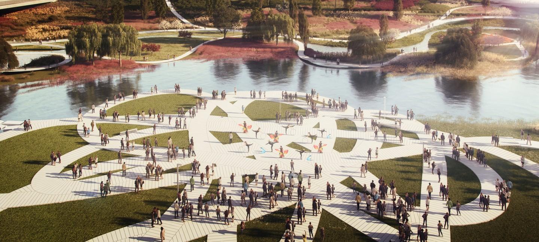 Dự án đầy tham vọng để biến đổi diện mạo của một quãng bờ sông dài 1km. Anh: