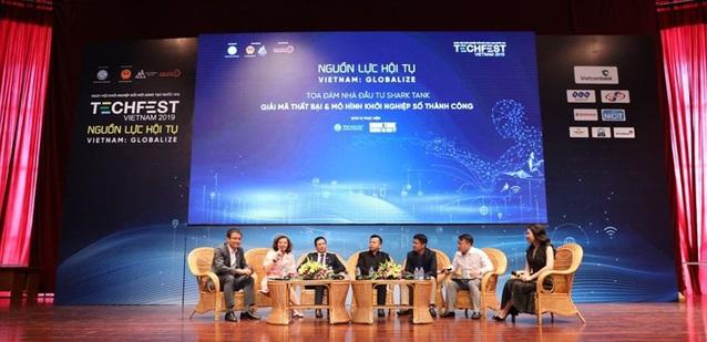 Các Shark tham gia thảo luận tại Techfest 2019 | Ảnh: Techfest