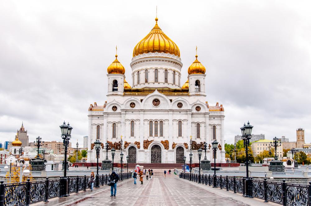Nhà thờ Đức Kitô Đấng cứu độ mới được xây dựng lại. Ảnh: Shutterstock.