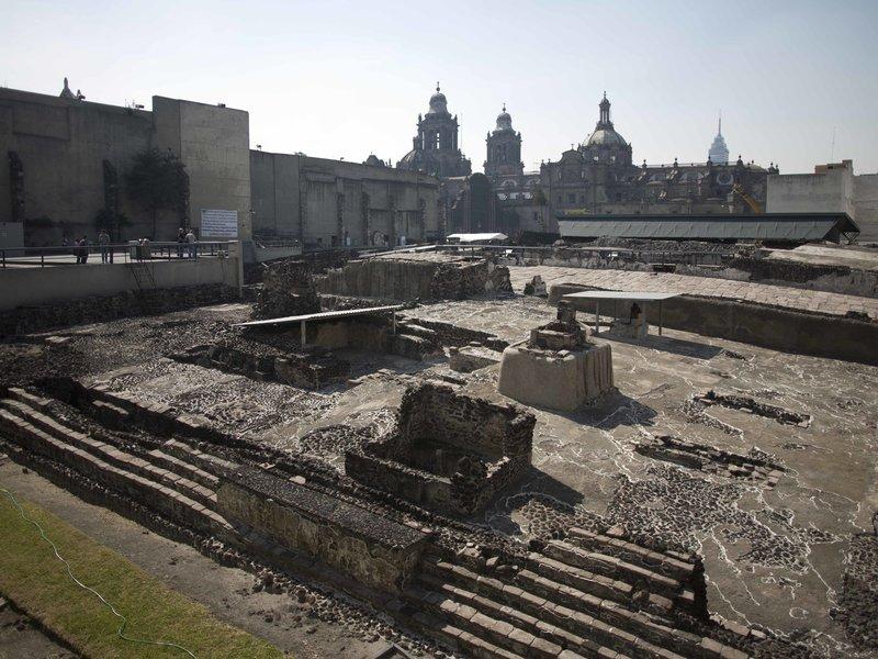 Các nhà khảo cổ học đã có được những khám phá quan trọng về người Aztec ở di chỉ Đền Lớn ở trung tâm thủ đô Mexico. Nguồn: NPR/ Eduardo Verdugo