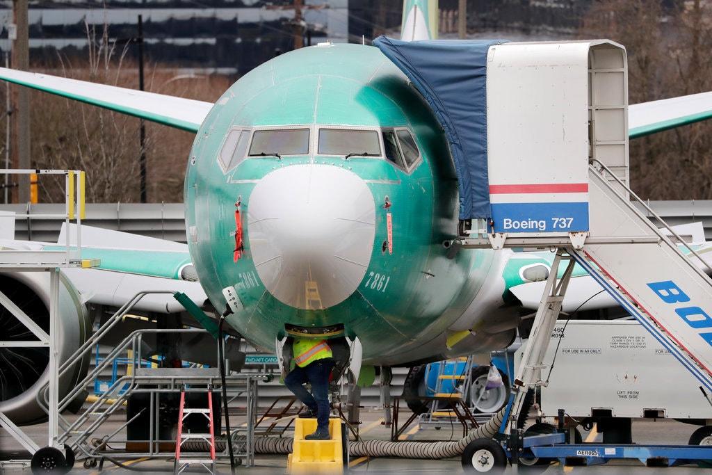Cơ sở lắp ráp dòng 737 Max của Boeing tại Renton, bang Washington, hiện đang tạm ngừng hoạt động. Ảnh: Elaine Thompson/Associated Press.