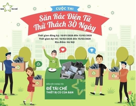 Cuộc thi săn rác điện tử tại Hà Nội
