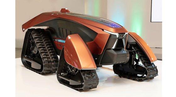 Mẫu concept máy kéo tự động chạy điện do hãng Kubota danh tiếng của Nhật giới thiệu. Ảnh: Kubota.