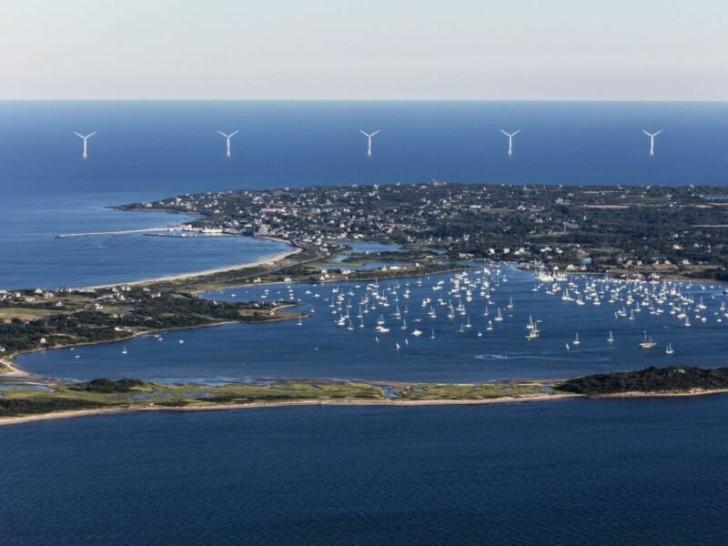 Trang trại gió ngoài khơi đầu tiên của Mỹ - Ảnh: University of Rhode Island