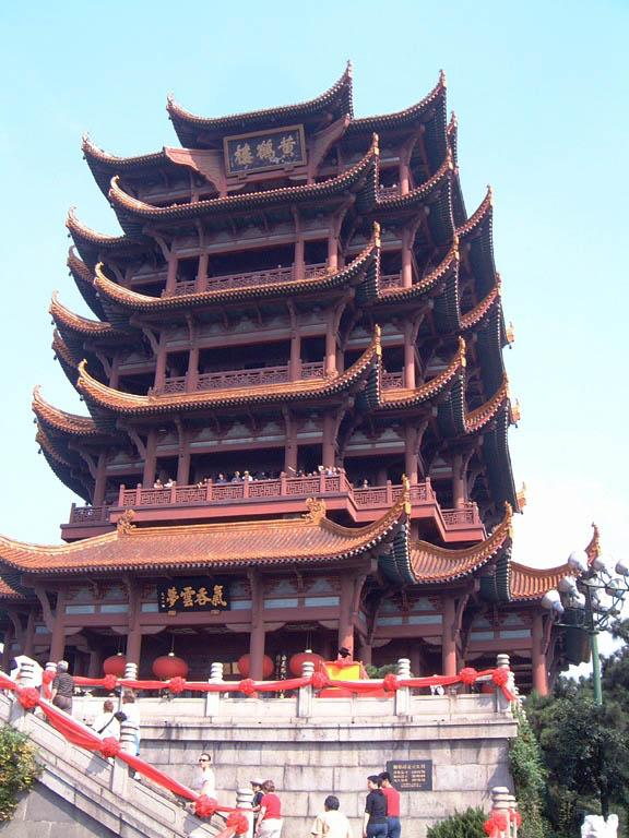 Hoàng Hạc Lâu, địa danh nổi tiếng trong thi ca cổ Trung Quốc. Ảnh: Wikimedia.