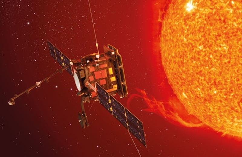Tàu thăm dò Mặt trời Solar Orbiter. Ảnh: ESA.