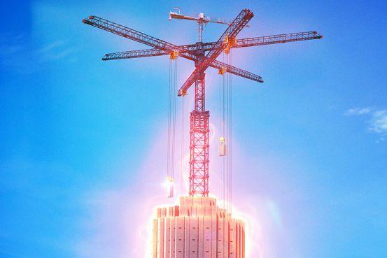 Ý tưởng xây dựng cần trục lưu trữ năng lượng của Energy Vault.