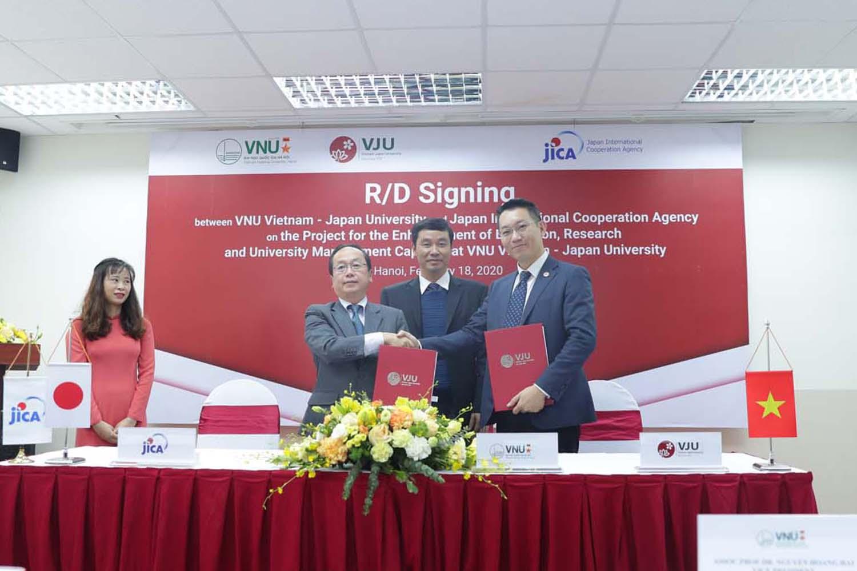 Lễ ký kết giữa trường Đại học Việt Nhật – ĐHQGHN và Cơ quan Hợp tác Quốc tế Nhật Bản