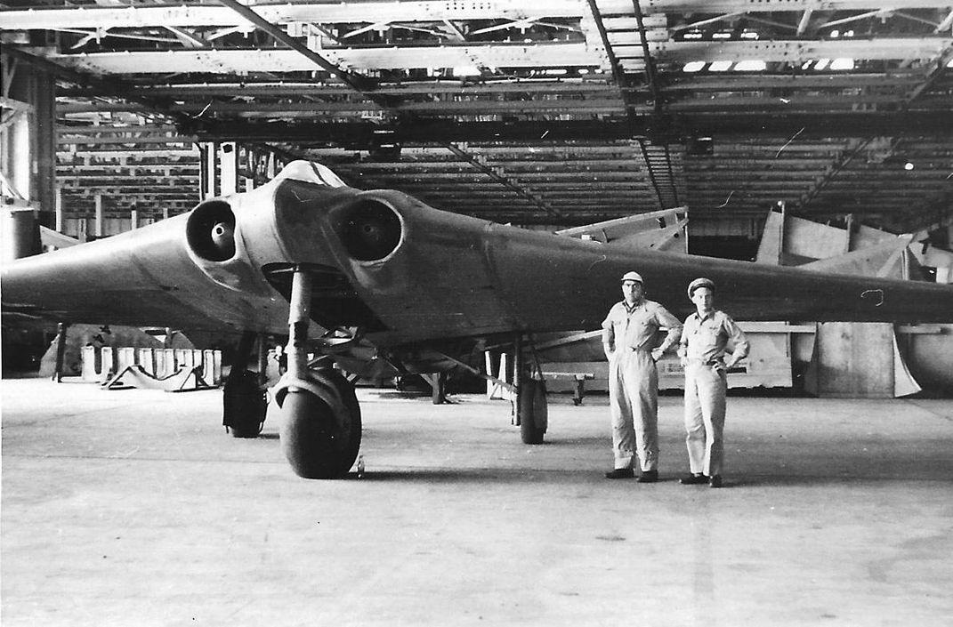 Hình chụp chiếc Ho 229 V3 năm 1950 do Đại úy Richard Kik Jr thực hiện. Ảnh: Richard Kik Jr.